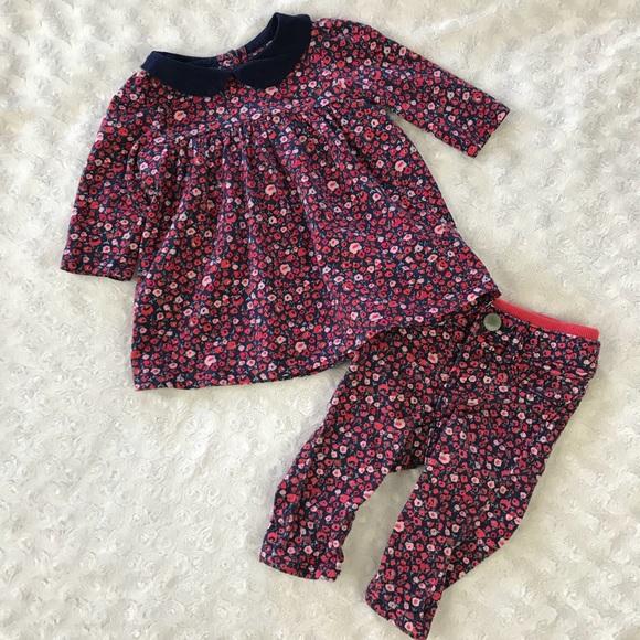 aa4bc2848 GAP Matching Sets | Baby Outfit Pants Top Floral Peter Pan Collar ...